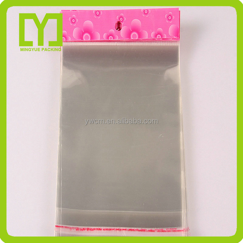 YiWu good quality gold supplier all new material cellophane poly plastic opp self-adhesive bag