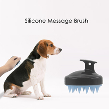 New salon shampoo message silicone hair washing brush