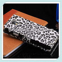 Hot selling simple pu leather stand phone case for samsang note3 n9000
