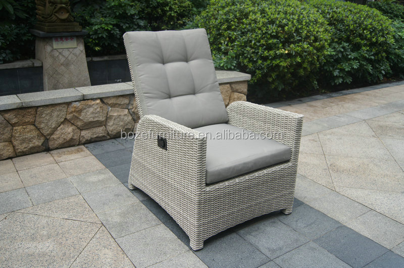 Plastic round rattan adjustable high back sofa furniture, grey patio furniture