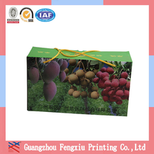 Glossy Laminated Corrugated Fruit Boxes with PP Rope Handle