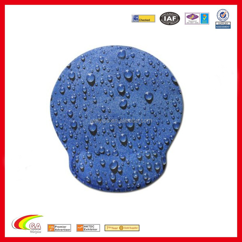 blue optical raindrop mouse pad,wrist rest leather mouse mat,memory foam mouse pad wholesale manufacturer