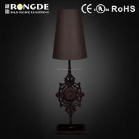 New iron + shade table lamps for home decor