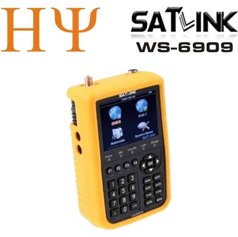 Original Satlink ws-6909 DVB-S WS 6909 satellite finder meter combo DVB-T DVB-S satellite receiver set top box