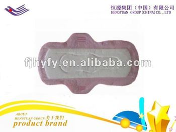 OEM new design daytime brand name anion sanitary napkin with negative ion manufacturer in China