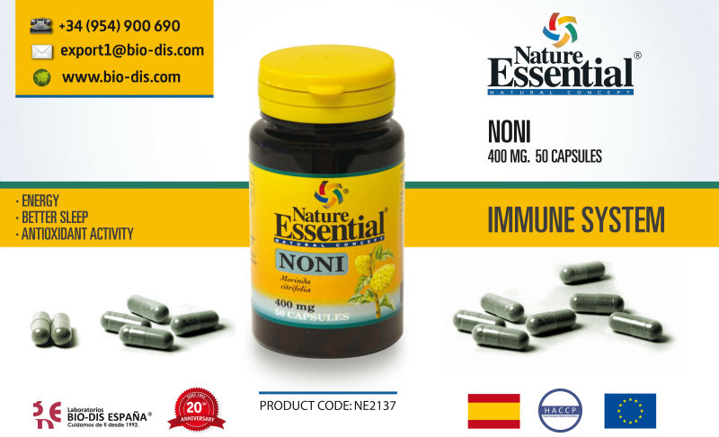 Noni 400 mg 50 capsules - Food supplement