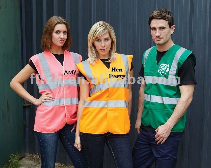 Fluorescent reflective Safety Vests for women