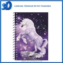 dreamlike horse a5 a4 a3 custom school kid 3d lenticular notebook wholesale