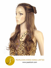 Long Pre Braided Wig with Bow Ribben Updo Futura Fiber Lace Front Wig