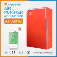 2015 fashion design red air cleaner with hepa filter and dust sensor smartphone control