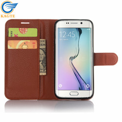 Newest Style Hight Quality leather flip case for samsung galaxy fame S7 edge