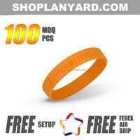 Customized made rubber silicone hand band factory sale