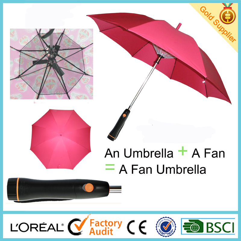 2016 new fan umbrella and patent umbrella with fan inside