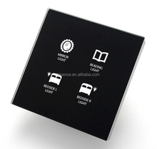 Tempered Glass Smart Modbus Touch Switch for Automation Home and Hotel