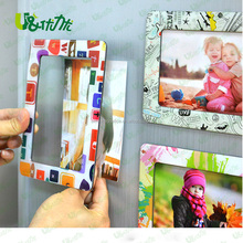"Customized fridge magnet 5x3"" magnetic photo frames for promotional gift"