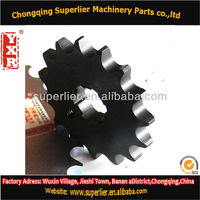 Professional produce motorcycle chain sprocket kit,NX 400 FALCON 15T sprocket,420 and 428 chinese scooter parts