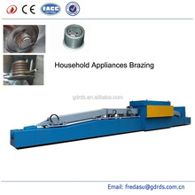Atmosphere protective continuous electric brazing furnace for household applicanes