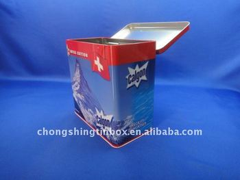 washing powder tin box