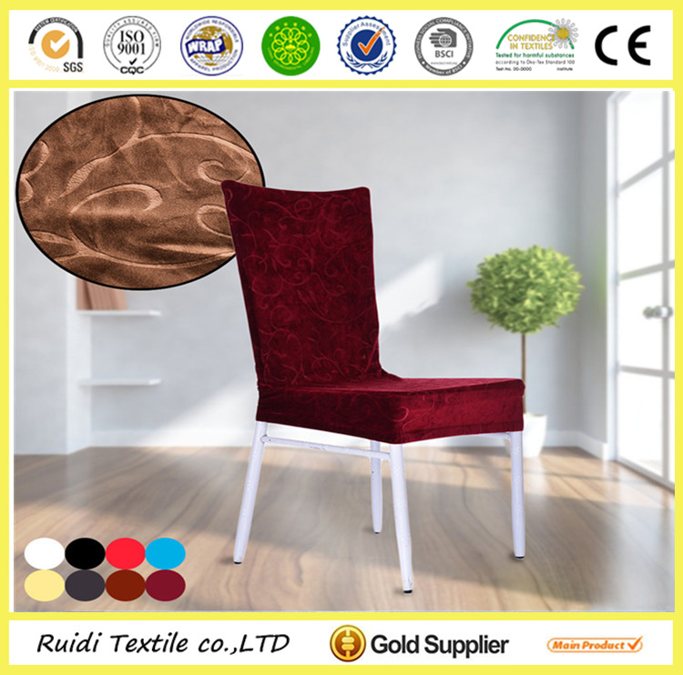 jacquard design gold spandex cheap chair covers