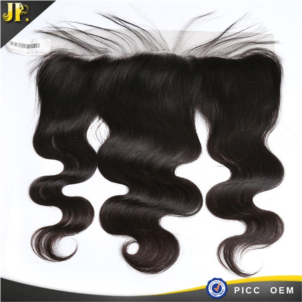 JP new style NATURAL HAIRLINE 13x4 elastic band lace frontal closure