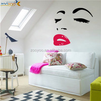 Removable wall decal sexy lady lip wall stickers for living room ( ZY 8469)