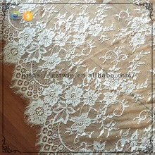 Guangzhou New Design French Chantilly Lace Crochet lace Fabric Stretch Lace Fabric for Wholesale