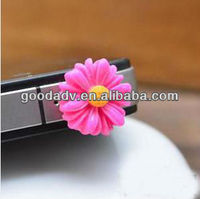 Customized design anti dust plug/cell phone charm for fruit