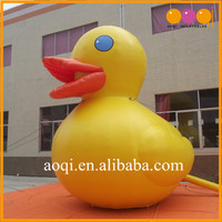 Giant lovely cartoon advertising model yellow inflatable duck for sale