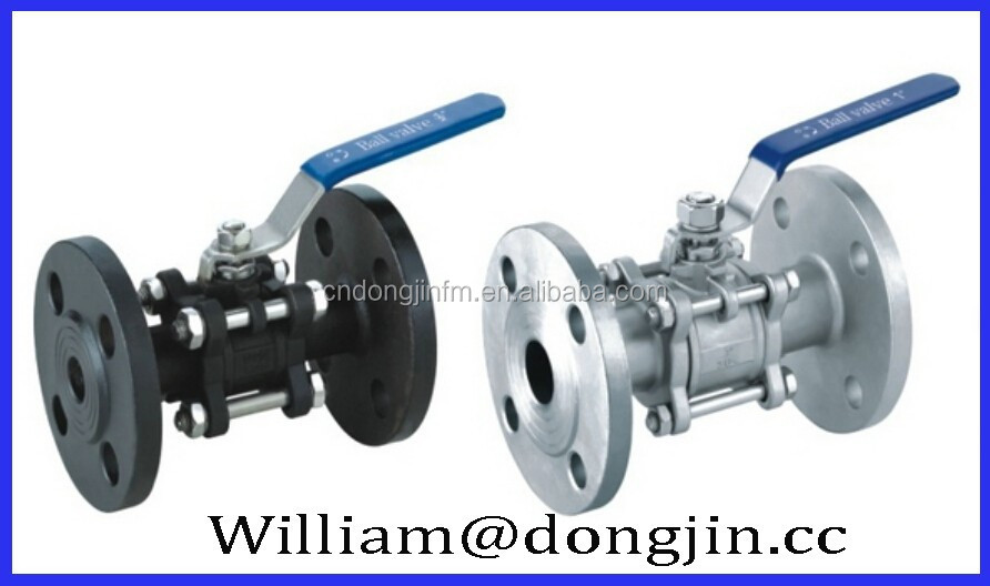 3PC Stainless Steel Flanged End Pvc Ball Valve