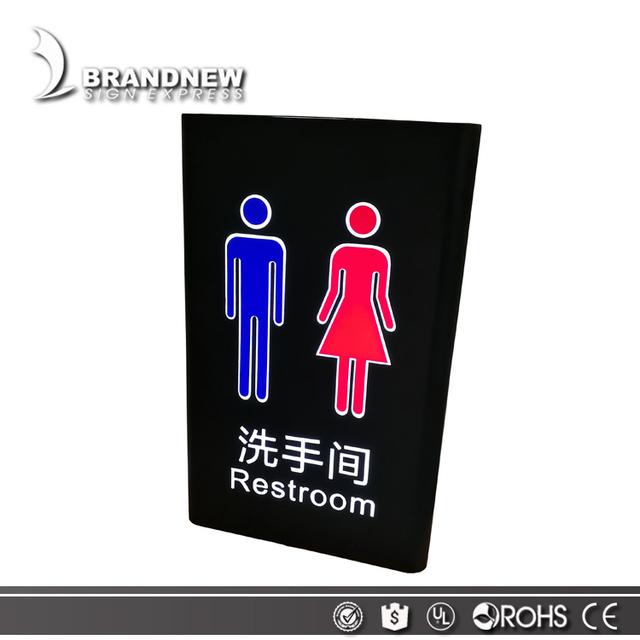 MOQ 1 SET led toilet door sign light for Women & men restroom