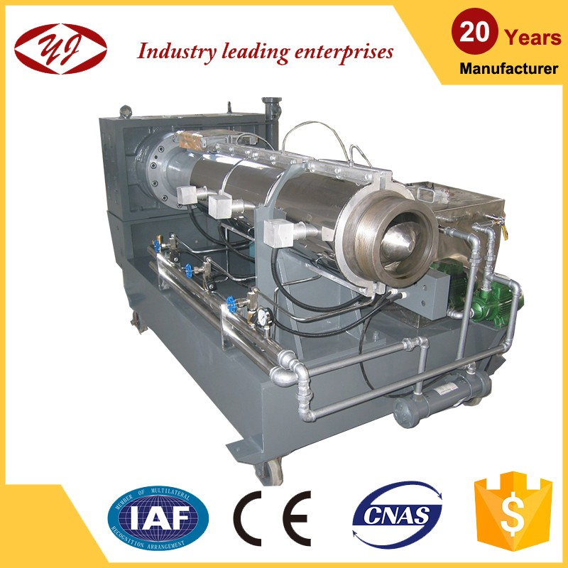 High quality manufacturing equipment pe film recycling single screw extruder for plastic pellets