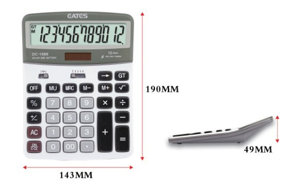 Eates Large solar finance office calculator DC-1688