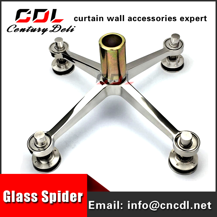 curtain wall fitting stainless steel glass spider clamp