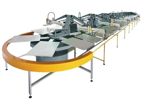 SPO Automatic Oval Type screen Printing machine for T-Shirts