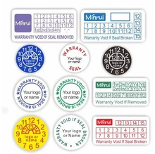 Custom repair use round self destructive paper warranty stickers