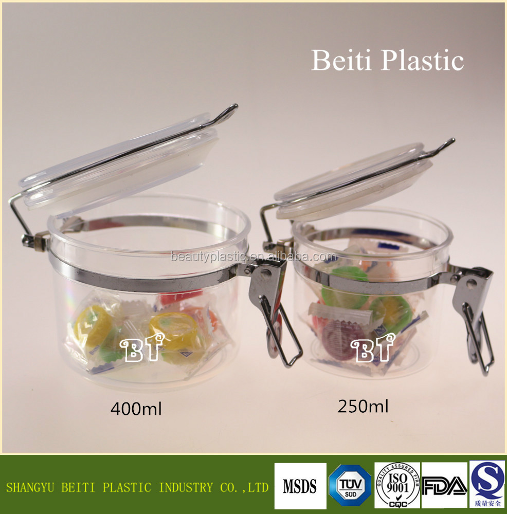 250ml 400ml 870ml Factory directly reliable sealing manufacturer plastic jam jar Pass SGS test