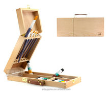 Portable beech wood oil painting box easel box