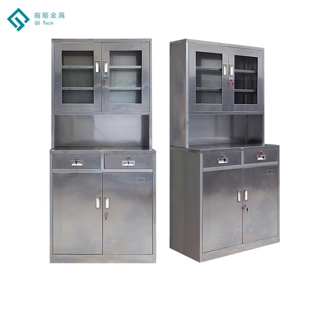 Cheap Glass Door Steel Swing Door Office Filing Metal Storage Cabinet/Locker