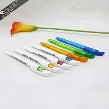 Hot selling promotional office advertizing plastic ball pen with custom logo