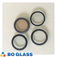 Hot sale custom tempered round glass sheet with black silkscreen in high quality