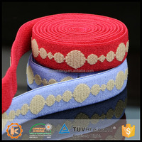 New fashion design jacquard good quality elastic braid for bra for promotion