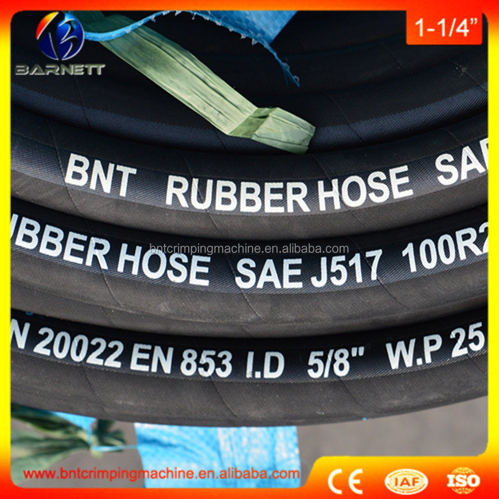 Best price Tractor SAE 100 R13 black rubber hyd hose 1-1/2 inch