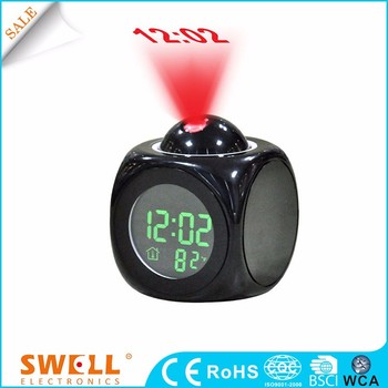 Square talk led light alarm clock , led lamp with alarm clock