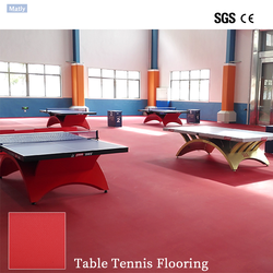 Hot Sales Red / Green Indoor PVC Table Tennis Court Sports Flooring