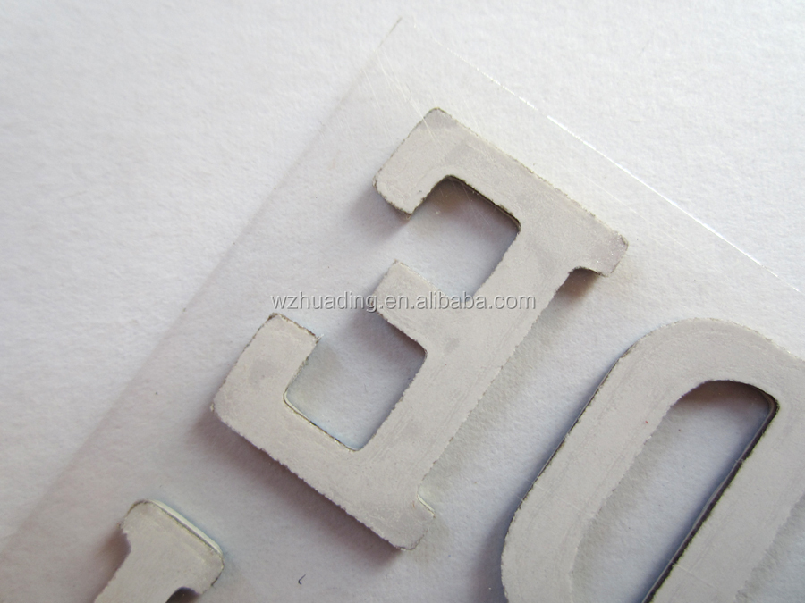 2016 newly HOT alphabet letters foil chipboard sticker for home decor.