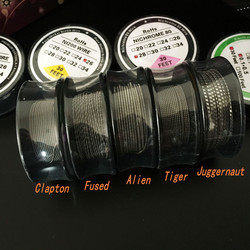 Ni200 Nichrome 80 Ribbon Wire Twisted coil Clapton Wire Fused Clapton Alien Wire Tiger Juggernaut Prebuilt coil spool 30feet
