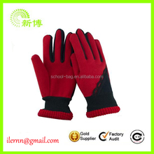 specialized red beautiful lady polar fleece gloves