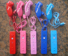 7 colors Wii Remote and Nunchuck Nunchuk Controller for Nintendo Wii High Quality WiiRemote