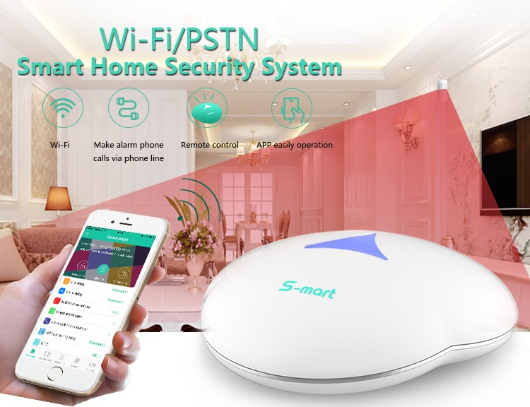 2017 868mhz and LoRa long range wifi alarm system hub GS-S3