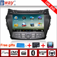 Bway In Dash 2 din Car video player for HYUNDAI IX45 santa fe 2013 CAR DVD with GPS Navigation car Radio Bluetooth